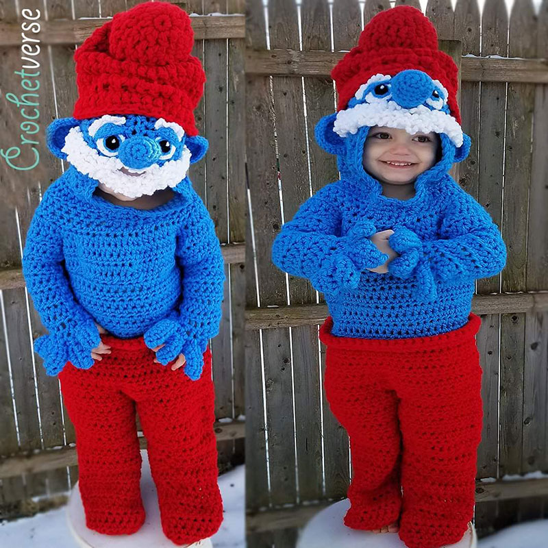 crochet halloween costume by stephanie pokorny crochetverse 9 Every Halloween This Mom Crochets the Coolest Costumes for Her Kids