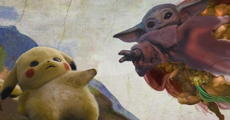 When Baby Yoda Met Pikachu