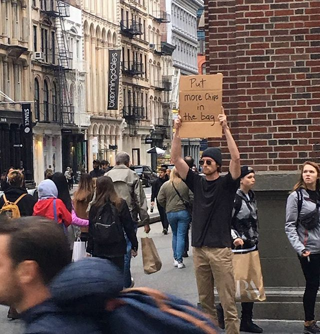 dude with sign protests random things instagram 1 Dude with Sign Protests the Most Random Things (13 Photos)