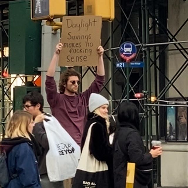 dude with sign protests random things instagram 10 Dude with Sign Protests the Most Random Things (13 Photos)