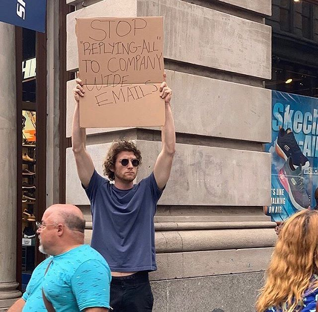 dude with sign protests random things instagram 4 Dude with Sign Protests the Most Random Things (13 Photos)