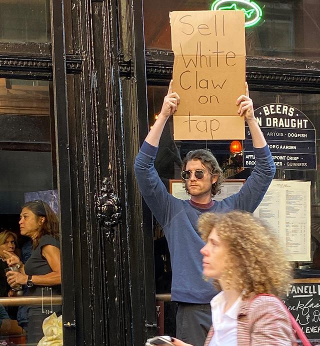 dude with sign protests random things instagram 7 Dude with Sign Protests the Most Random Things (13 Photos)