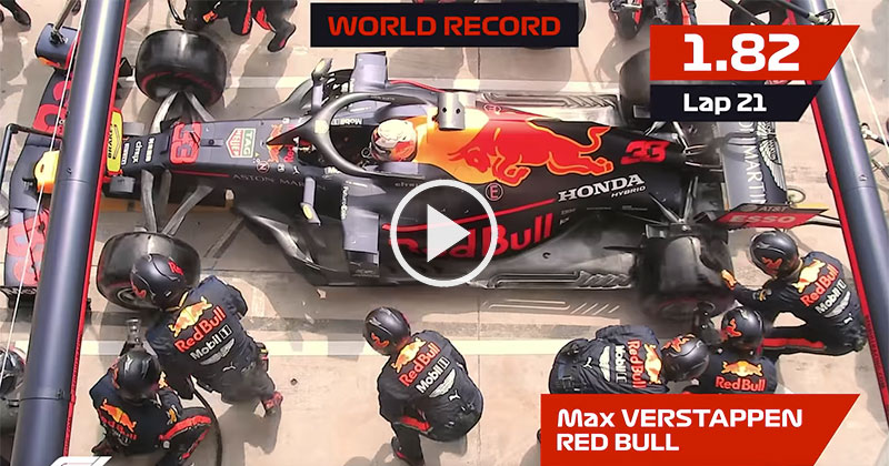 Team Red Bull Breaks Pit Stop World Record for Third Time This Season
