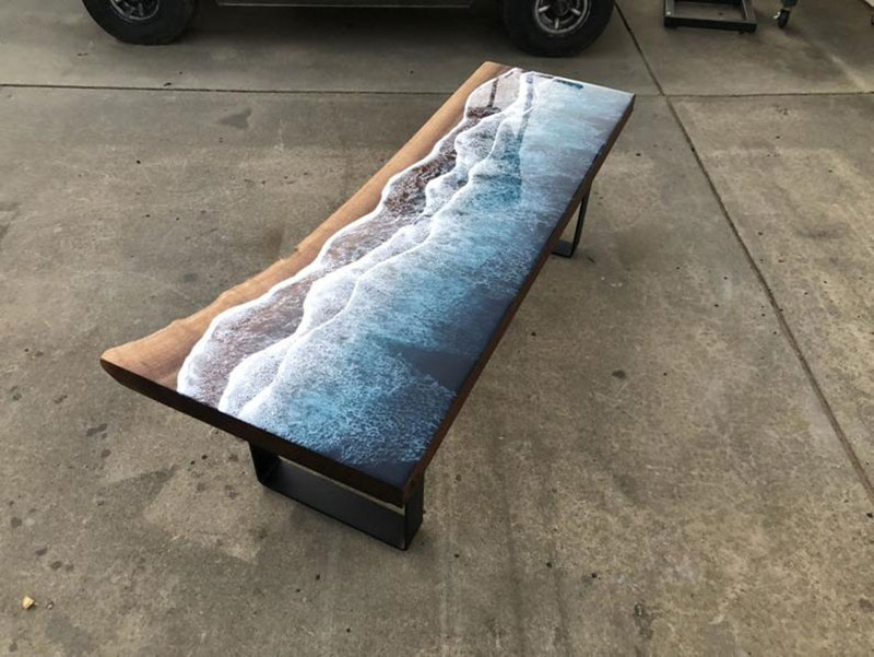 live edge ocean surface tables by rivka wilkins and jared davis 1 These Live Edge Ocean Shore Coffee Tables are Incredible (18 Pics)