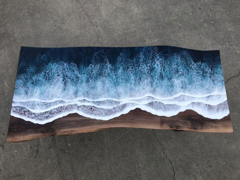 live edge ocean surface tables by rivka wilkins and jared davis 10 These Live Edge Ocean Shore Coffee Tables are Incredible (18 Pics)