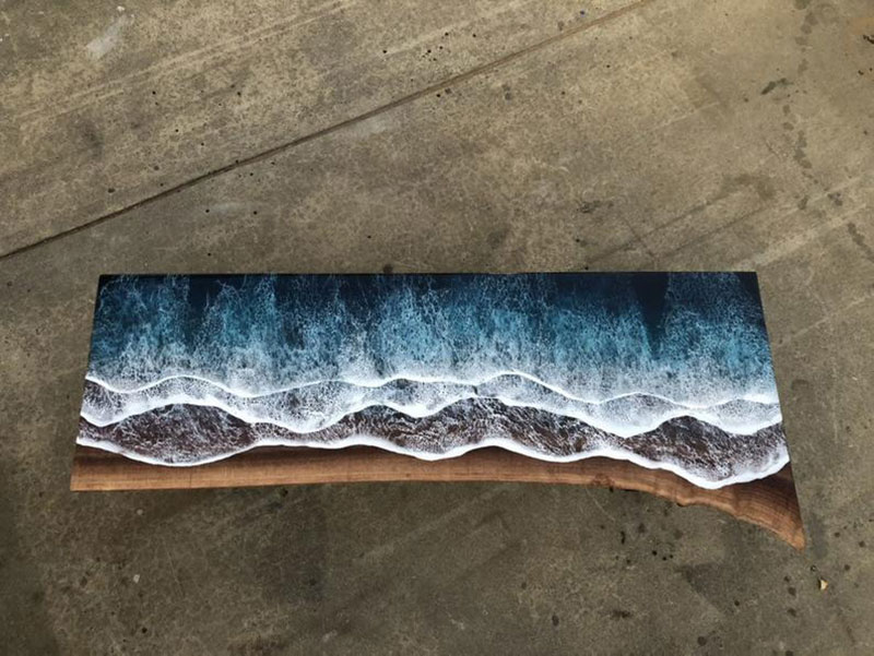 live edge ocean surface tables by rivka wilkins and jared davis 13 These Live Edge Ocean Shore Coffee Tables are Incredible (18 Pics)