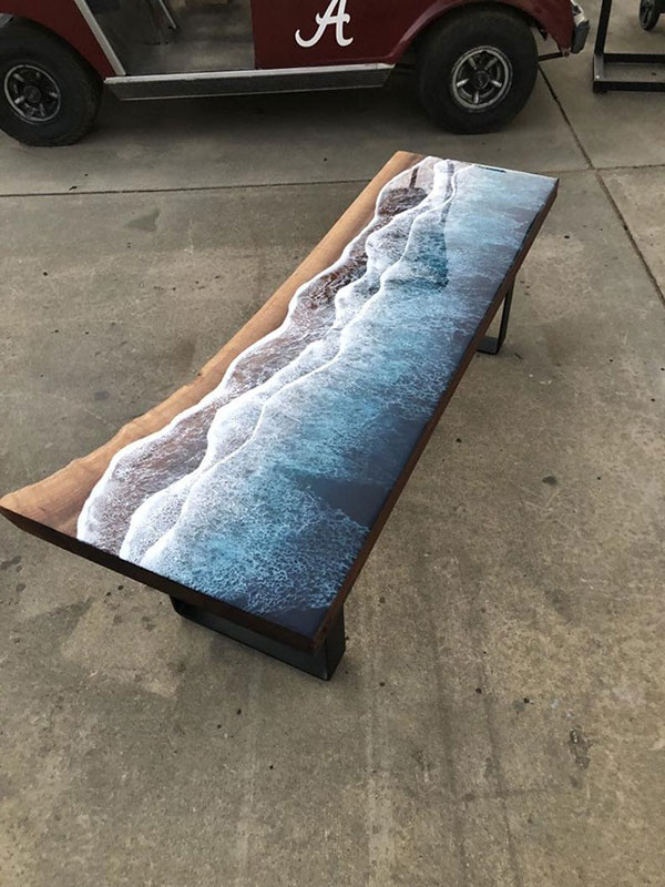 live edge ocean surface tables by rivka wilkins and jared davis 17 These Live Edge Ocean Shore Coffee Tables are Incredible (18 Pics)