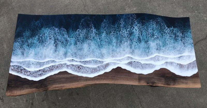 These Live Edge Ocean Shore Coffee Tables are Incredible (18 Pics)