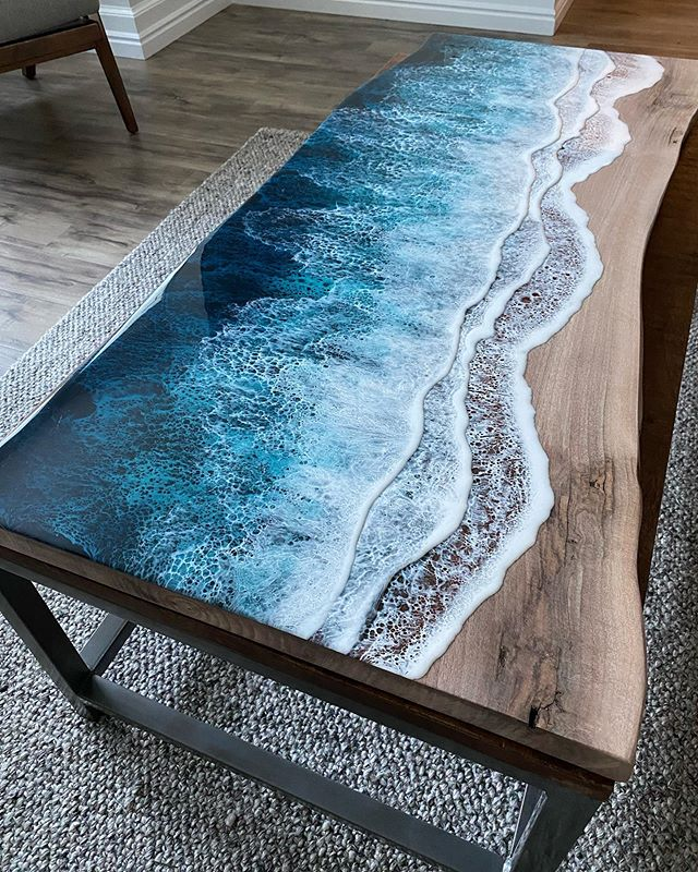 live edge ocean surface tables by rivka wilkins and jared davis 3 These Live Edge Ocean Shore Coffee Tables are Incredible (18 Pics)