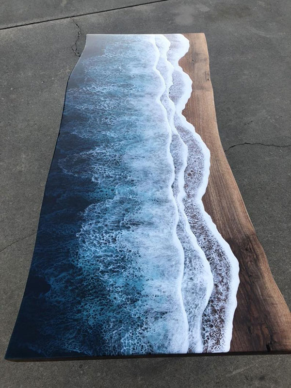 live edge ocean surface tables by rivka wilkins and jared davis 9 These Live Edge Ocean Shore Coffee Tables are Incredible (18 Pics)