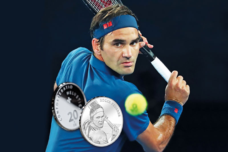 roger federer becomes first ever living person celebrated on swiss coin 2 Roger Federer Becomes First Ever Living Person Celebrated on Swiss Coins