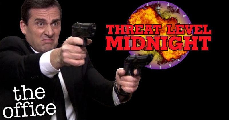 After 11 Years of Preparation, Michael Scott Debuts 'Threat Level Midnight' in Full