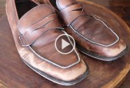 Cobbler Masterfully Restores the Most Beat Up Ferragamo Loafers You've Ever Seen