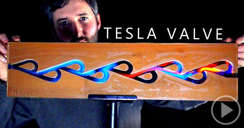 Using Fire to Visualize How a Tesla Valve Works