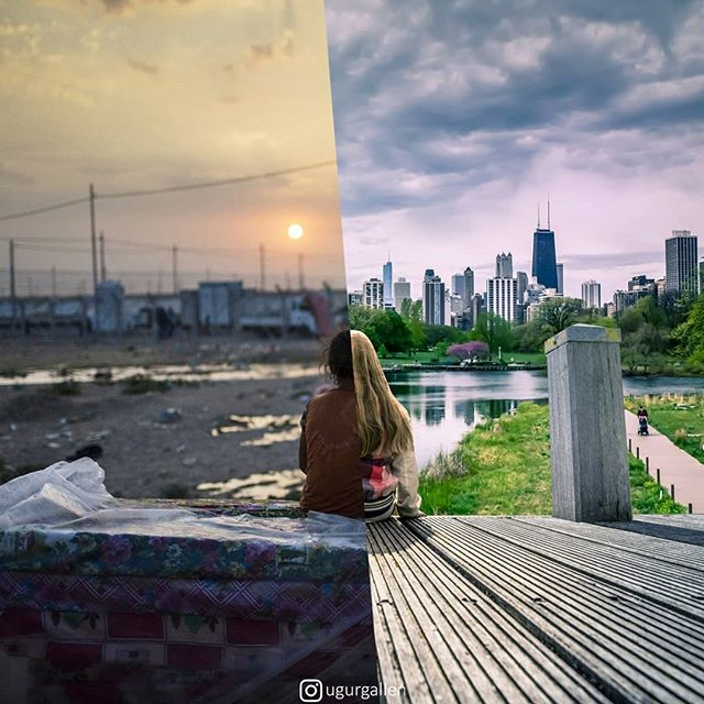 jarring photo collages of people that live completely different lives ugur gallenkus 10 25 Jarring Photo Collages of People That Live Completely Different Lives