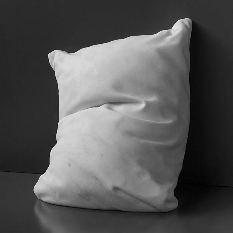 marble pillow sculptures by hakon anton fageras 1 Marble Pillows Chiseled by Hakon Anton Fageras