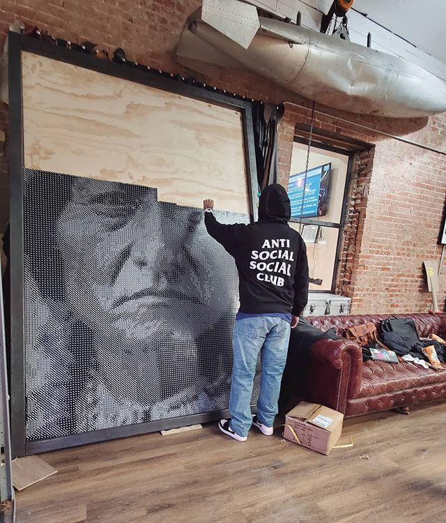 sitting bull portrait made from dice by steven paul judd 4 This Amazing Sitting Bull Portrait Made from 20,000 Dice