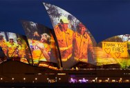 The Sydney Opera House Says Thank You to the Brave Firefighters