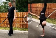 This Contact Sword Routine is Absolutely Mesmerizing