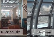 Shocking Footage from Sendai Airport During 9.0 Earthquake and Tsunami in 2011