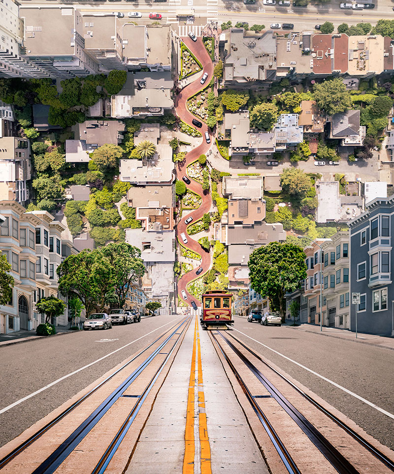 inception landscapes travel campaign united arlines by cream electric art 6 Travel Campaign Uses Inception Like Landscapes to Conjure Wanderlust