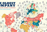 A World Map of the Oldest Company in Every Country (Still in Business)