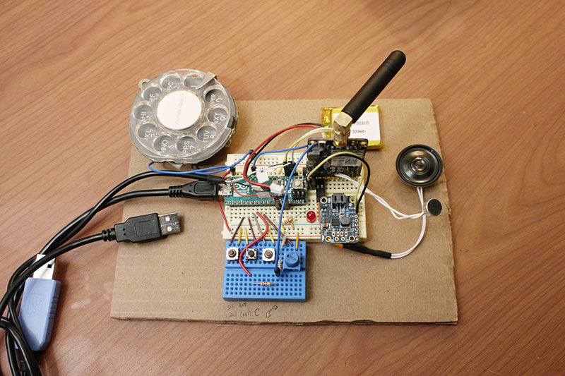 rotary cellphone by justine haupt 9 This Space Engineer Hates Touchscreens So She Built a Rotary Cellphone