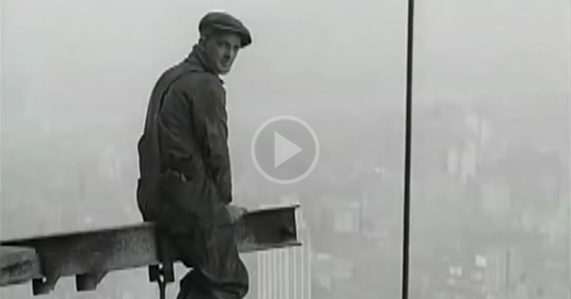 Amazing Footage from 1929-30 of Construction Workers on the Historic Chrysler Building