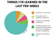 A Pie Chart of Things Learned About the Coronavirus in the Last Few Weeks