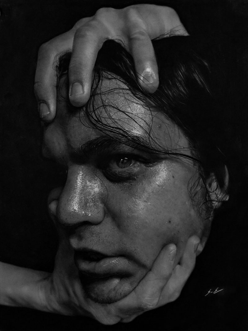 hyperrealistic charcoal portraits by dylan eakin 1 These Hyperrealistic Charcoal Portraits by Dylan Eakin are Incredible