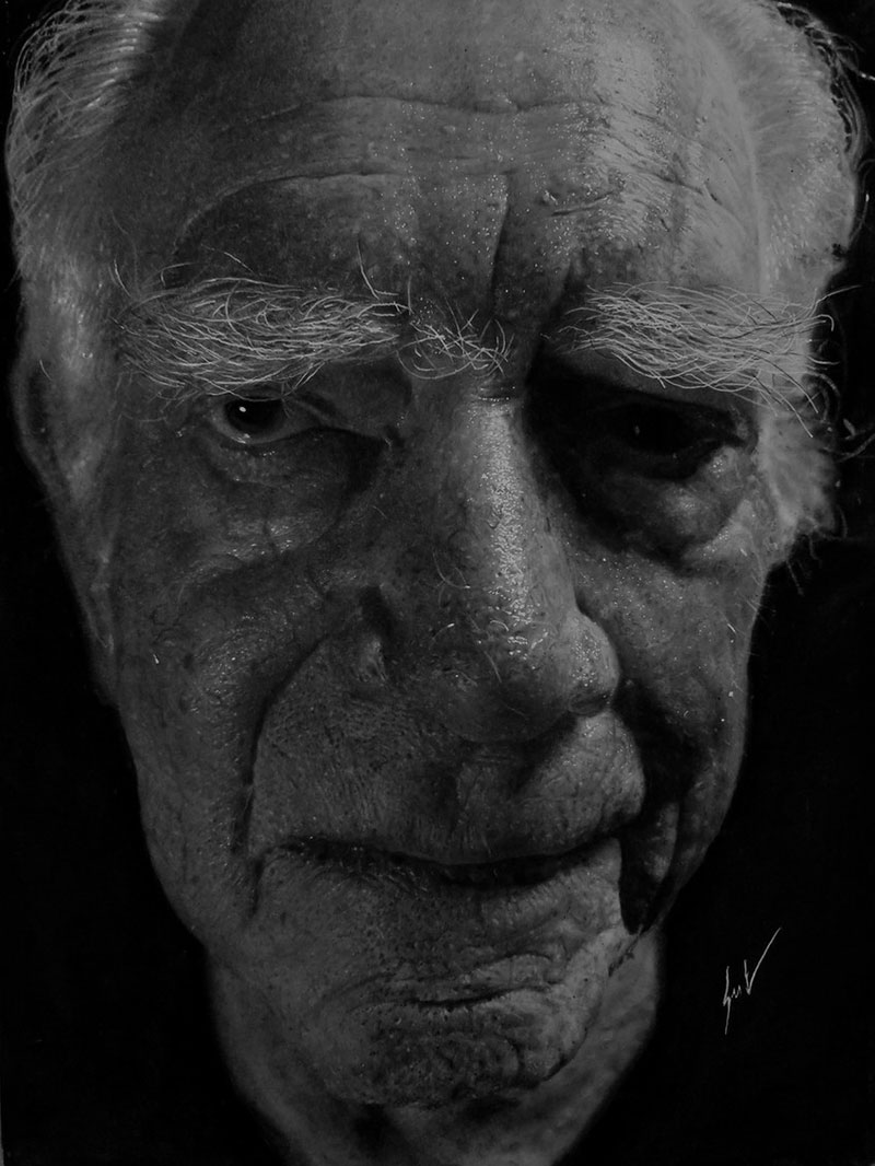 hyperrealistic charcoal portraits by dylan eakin 10 These Hyperrealistic Charcoal Portraits by Dylan Eakin are Incredible
