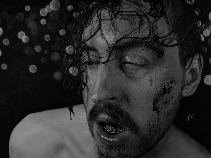hyperrealistic charcoal portraits by dylan eakin 12 These Hyperrealistic Charcoal Portraits by Dylan Eakin are Incredible