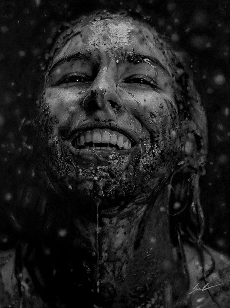 hyperrealistic charcoal portraits by dylan eakin 13 These Hyperrealistic Charcoal Portraits by Dylan Eakin are Incredible