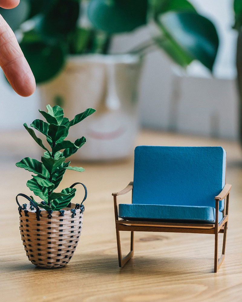 miniature paper potted plants by raya sader bujana 4 These Miniature Potted Plants Made from Paper are Just Adorable