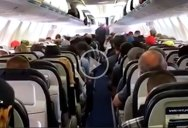 Rare Footage of People Getting Off a Plane in a Calm and Orderly Fashion