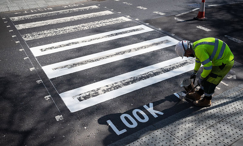 abbey road gets repainted 2 Lockdown in London Lets Abbey Road Get a Fresh Coat of Paint
