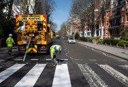 Lockdown in London Lets Abbey Road Get a Fresh Coat of Paint