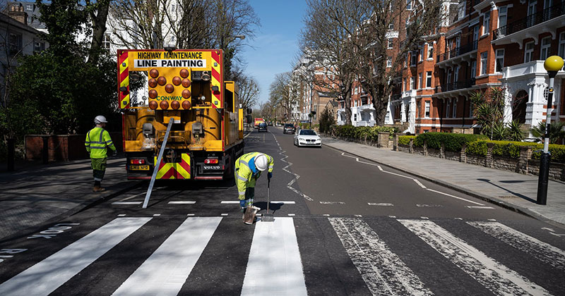 Lockdown in London Lets Abbey Road Get a Fresh Coat of Paint