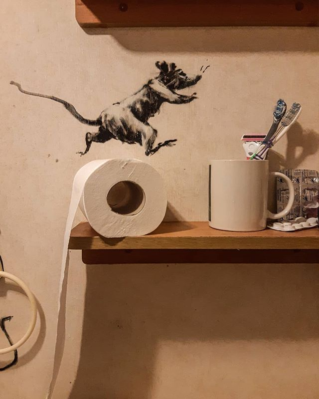 banksy work from home quarantine isolation social distancing 5 Banksys Working From Home and Says His Wife Hates It