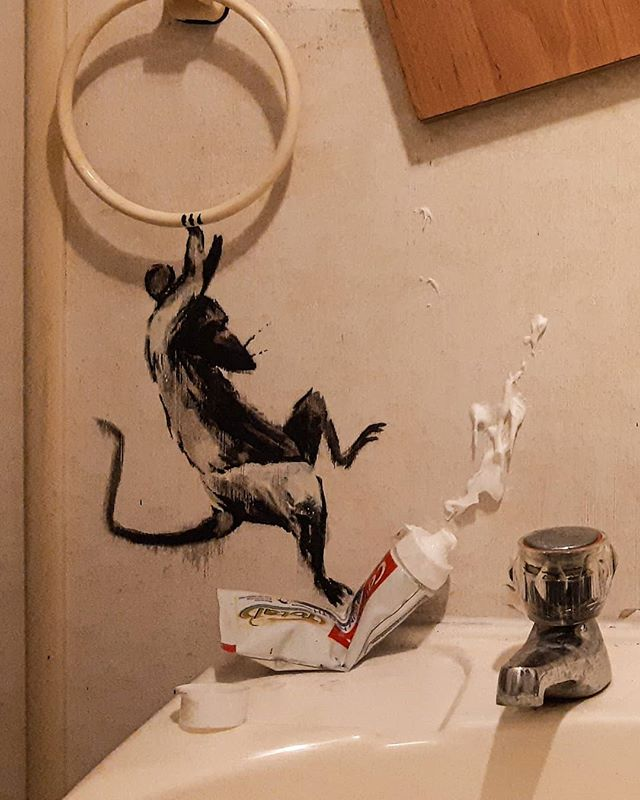 banksy work from home quarantine isolation social distancing 6 Banksys Working From Home and Says His Wife Hates It