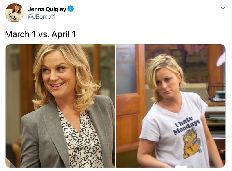 "march 1 vs march 31 april 1 meme best of 31 These ""March 1 vs April 1"" Posts Perfectly Capture How Intense the Last Month Was"