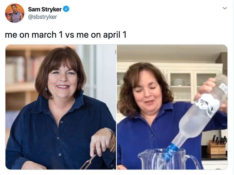 "march 1 vs march 31 april 1 meme best of 33 These ""March 1 vs April 1"" Posts Perfectly Capture How Intense the Last Month Was"