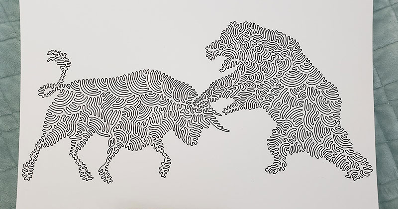 Tyler Foust Makes Wonderful Illustrations Using One Continuous Line