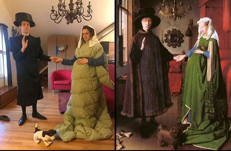 people recreating famous paintings at home getty museum challenge 21 People Stuck at Home are Recreating Famous Paintings and Its Awesome