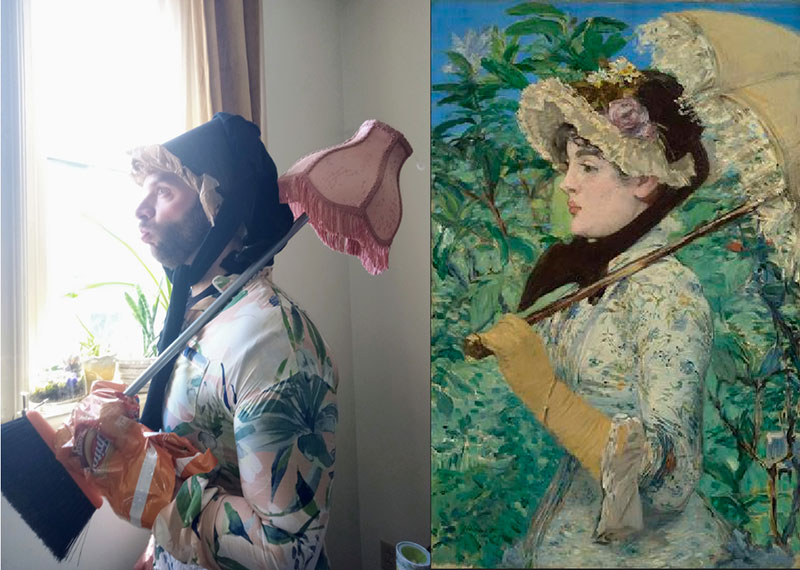 people recreating famous paintings at home getty museum challenge 32 People Stuck at Home are Recreating Famous Paintings and Its Awesome