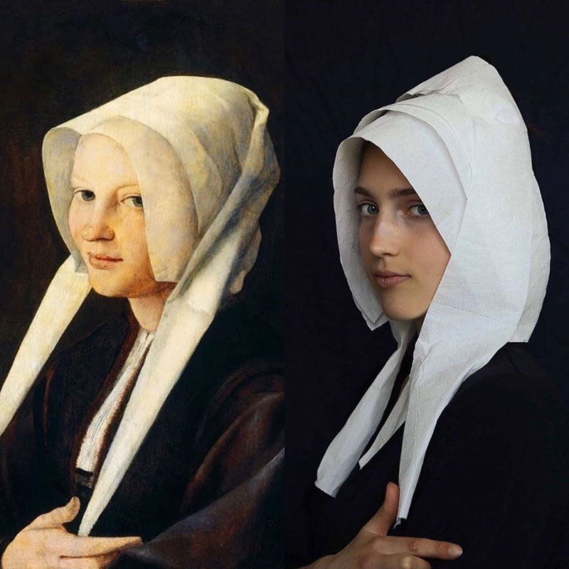 people recreating famous paintings at home getty museum challenge 34 People Stuck at Home are Recreating Famous Paintings and Its Awesome
