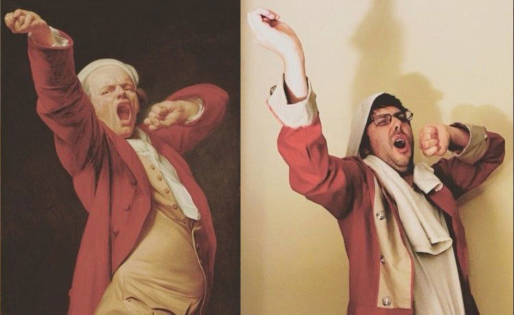people recreating famous paintings at home getty museum challenge 37 People Stuck at Home are Recreating Famous Paintings and Its Awesome