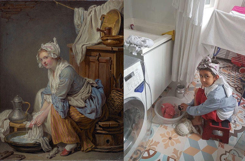 people recreating famous paintings at home getty museum challenge 38 People Stuck at Home are Recreating Famous Paintings and Its Awesome