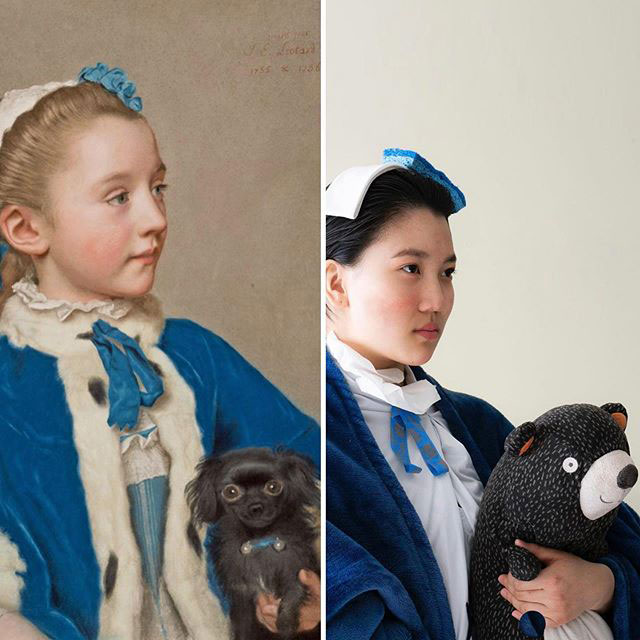 people recreating famous paintings at home getty museum challenge 39 People Stuck at Home are Recreating Famous Paintings and Its Awesome