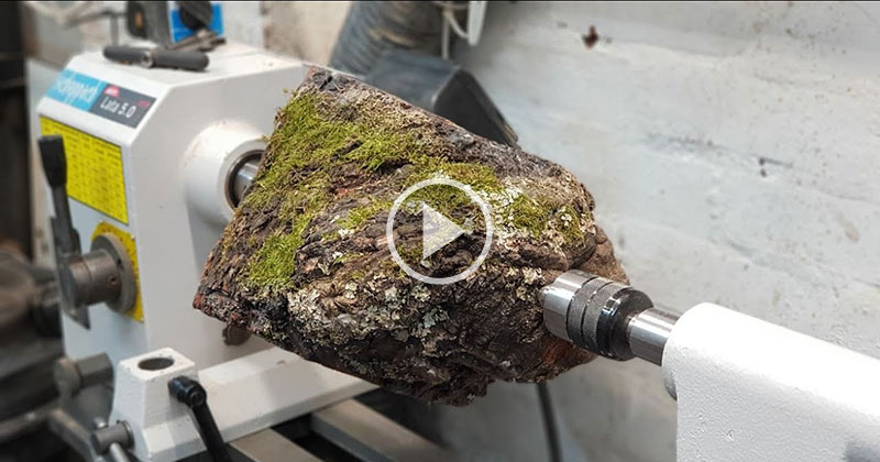 No Dialogue, Just a Guy Woodturning This Into a Speaker